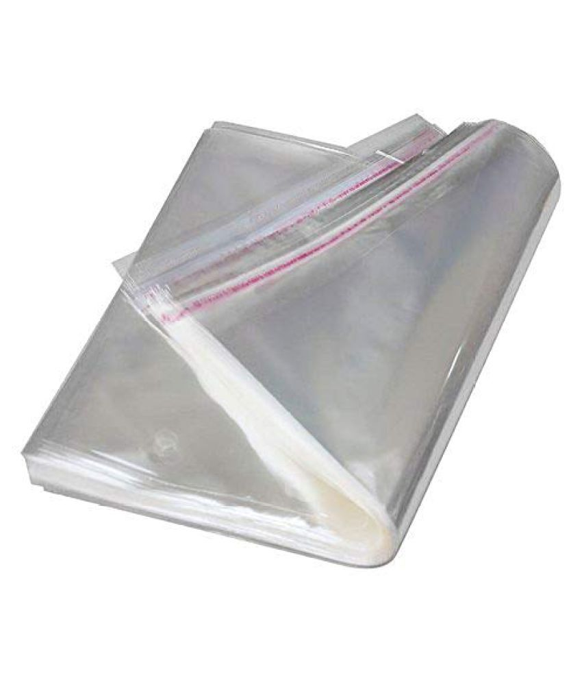 SJR Self Adhesive Multi-purpose Bag (Transparent, 11×20 Inch) Pack of 100 Pieces