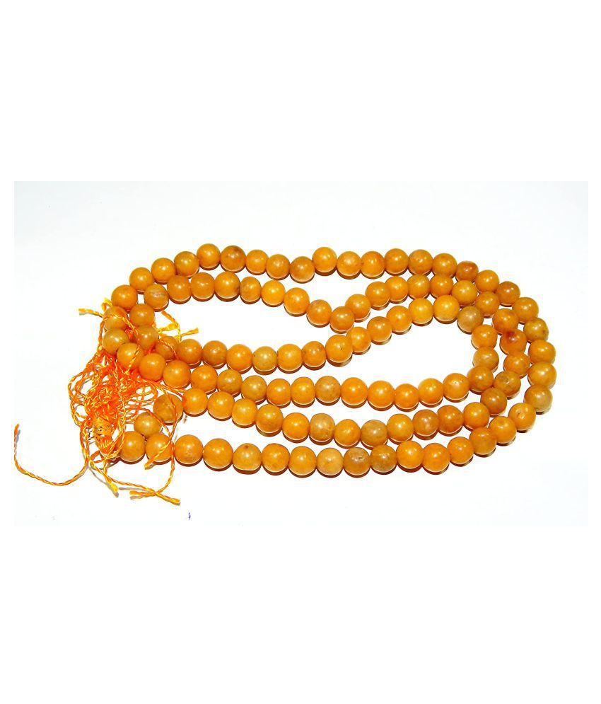 Urancia® Natural Yellow Jasper Prayer Mala AAA++ high quality Beads
