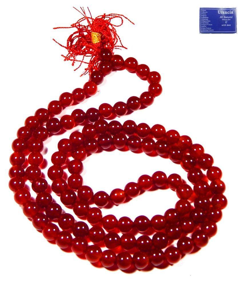 Urancia® Yemeni Cornelian Hakik Agate Japa Beads Mala Rosary 1Pcs