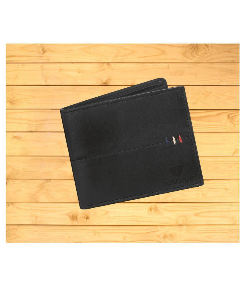 Walrus Leather Black Casual Regular Wallet
