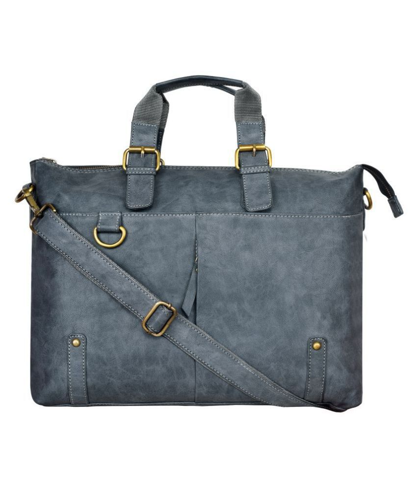 Walrus Machino Grey P.U. Office Bag