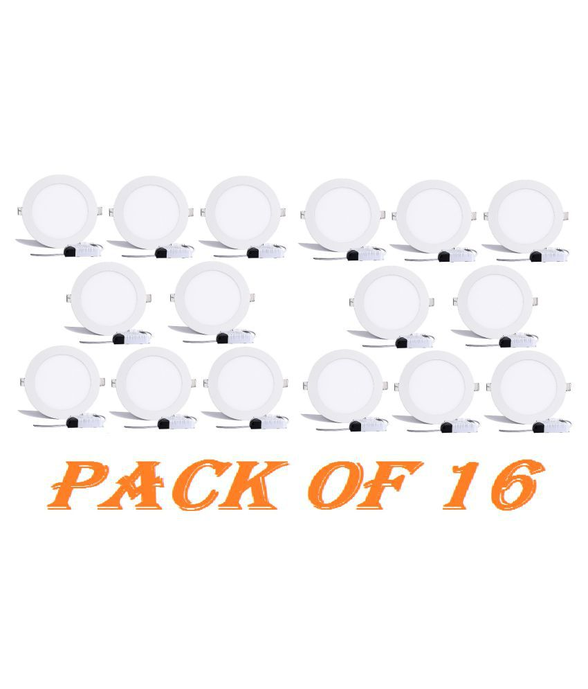 D'Mak Multi Traders 15W Round Ceiling Light 14.6 cms. - Pack of 16