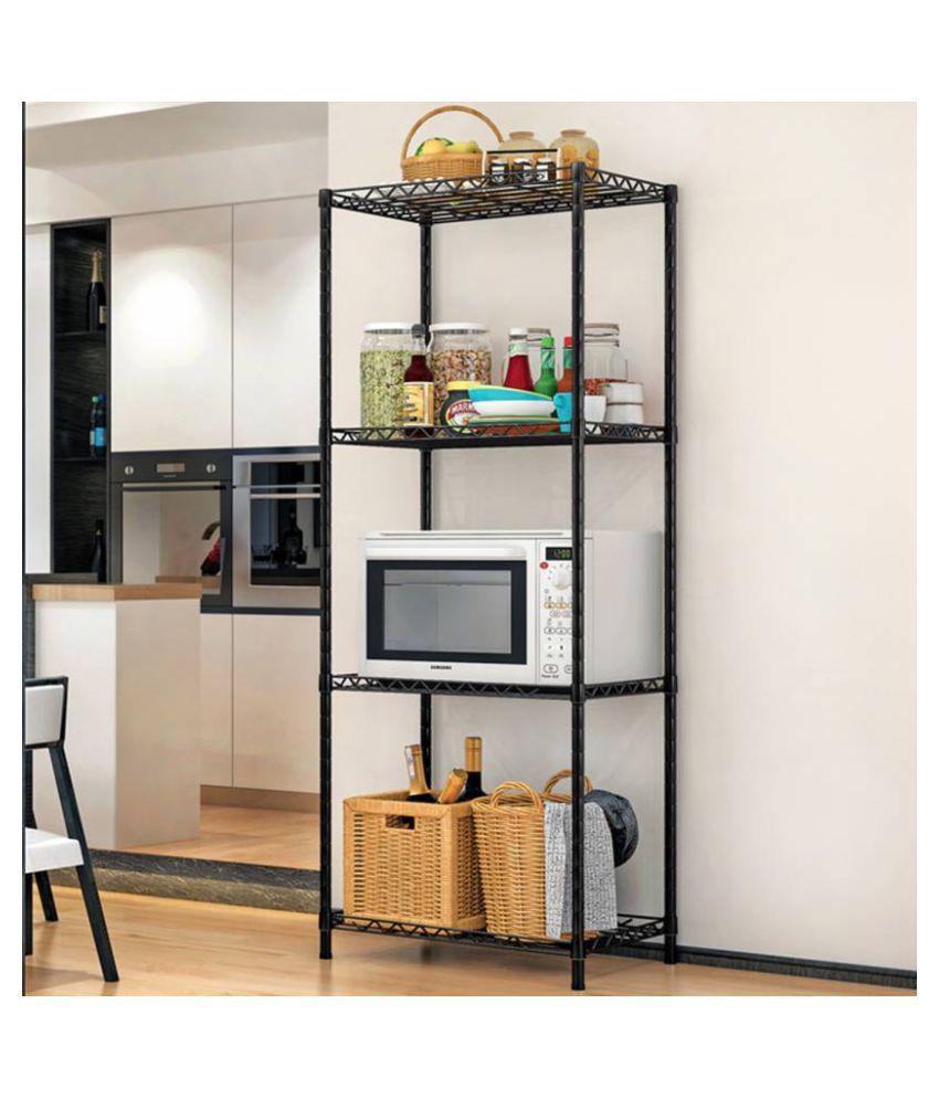 SECOM Metal Kitchen Cabinet Height Adjustable 4-Shelves ...
