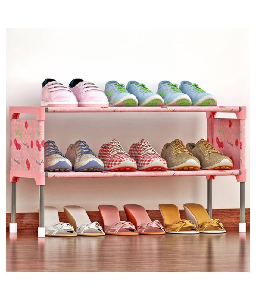 SECOM Water-Resistant Metal Collapsible Shoe Stand | Multipurpose Portable Folding Shoe Racks for Home Organizers