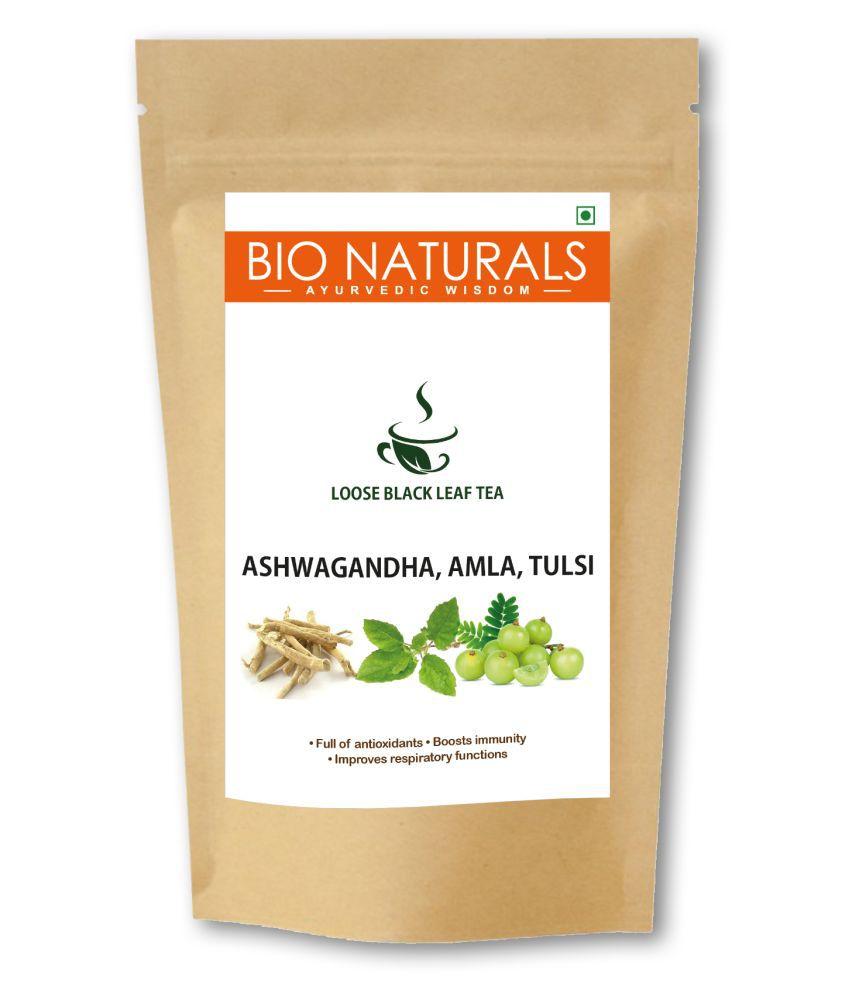 BIO NATURALS ASHWAGANDHA AMLA & TULSI Darjeeling Black Tea Loose Leaf 100 gm