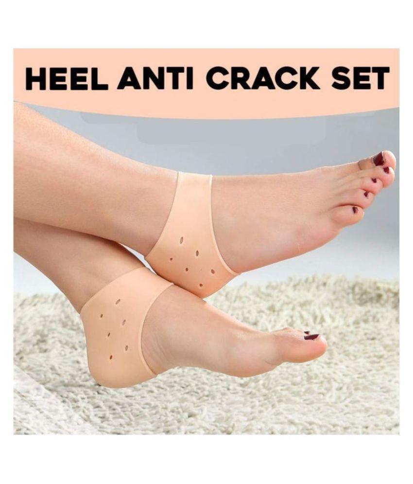 Silicon Anti Crack Heel Socks Regular Free Size