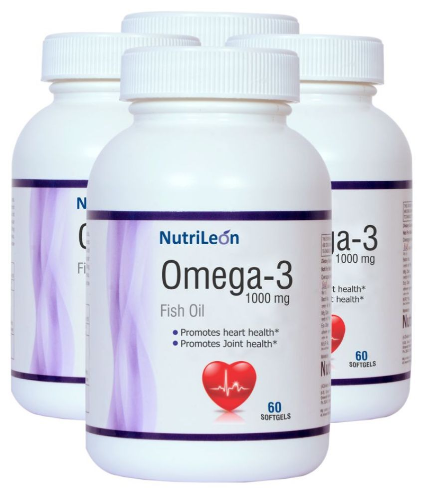 NutriLeon Omega 3 Fish Oil Softgel 1000 mg Pack of 4