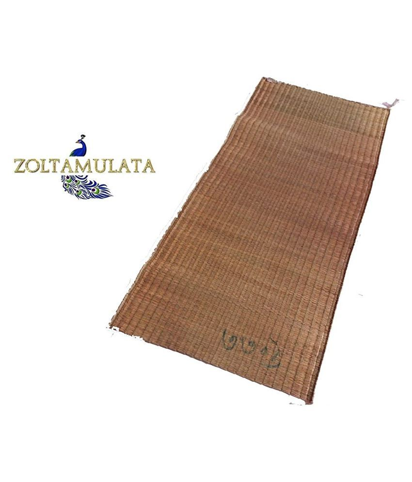 Zoltamulata® Real Big Size Handmade River Grass eco-Friendly mat Natural Fibre mat korai Grass mat madhurkathi mat Bamboo Floor mat Meditation mat for Yoga with (L X B) 5ft X 35 inch