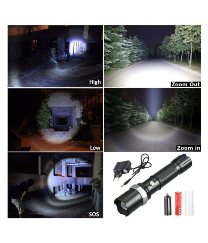 Jm 7W Flashlight Torch Rechargeable 400M - Pack of 1