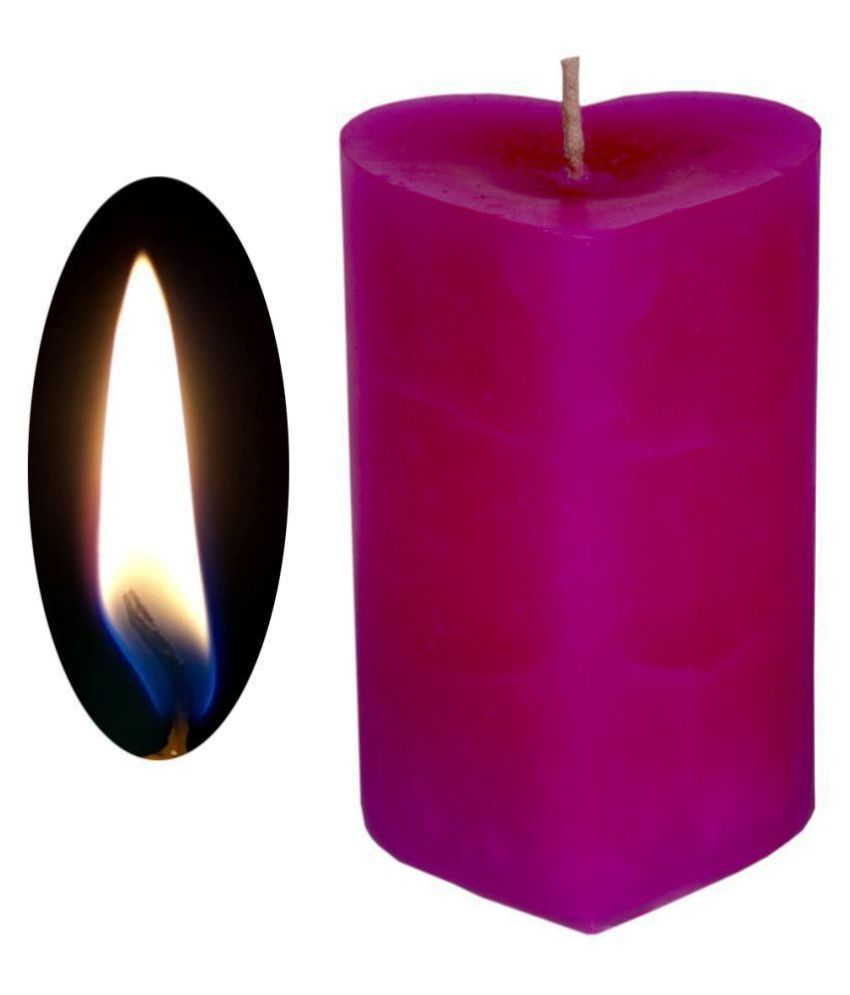 Jm Purple Pillar Candle - Pack of 1