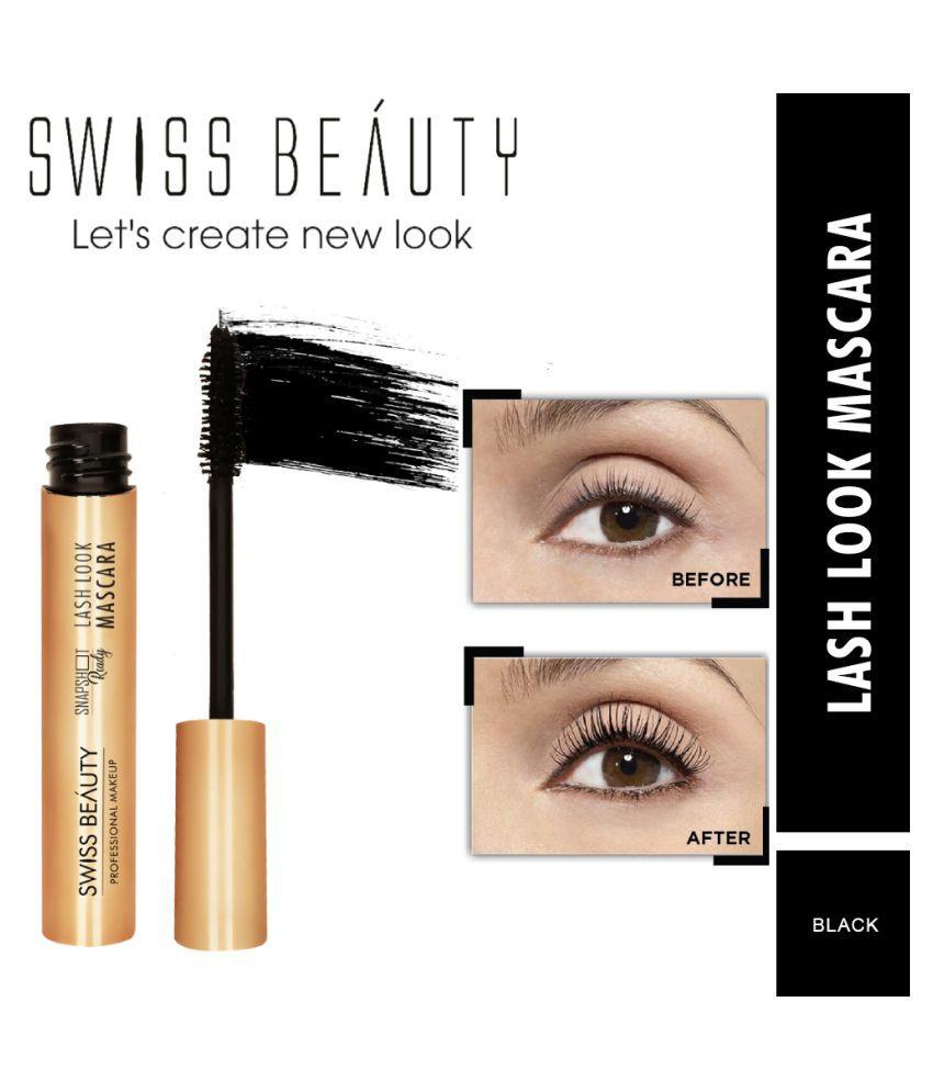 Swiss Beauty Lash Look Long Lasting Mascara Black, 6gm