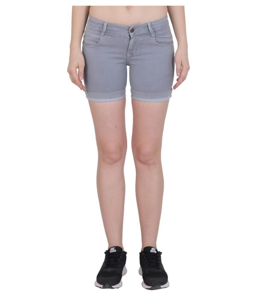 FORTH Denim Hot Pants - Gray