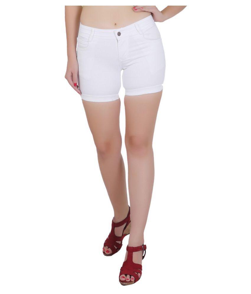 FORTH Denim Hot Pants - White