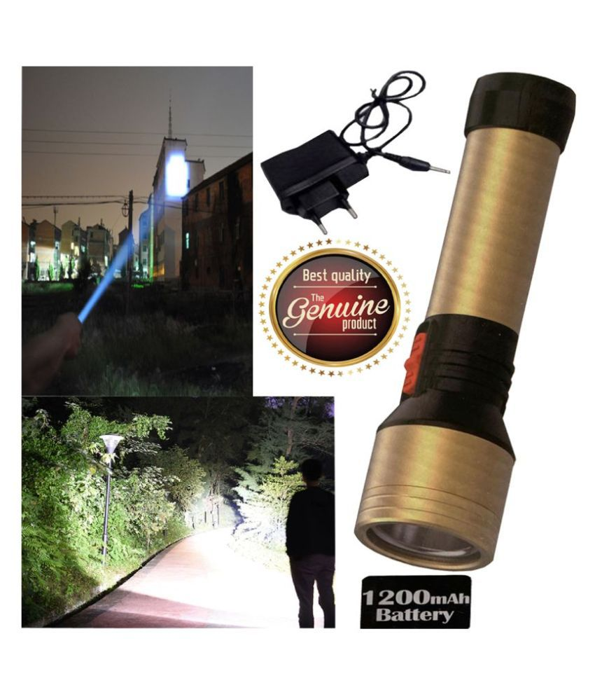 GA 20W Rechargeable Flashlight Torch Outdoor Search Light - Pack of 1 20W Flashlight Torch KG-6729 - Pack of 1