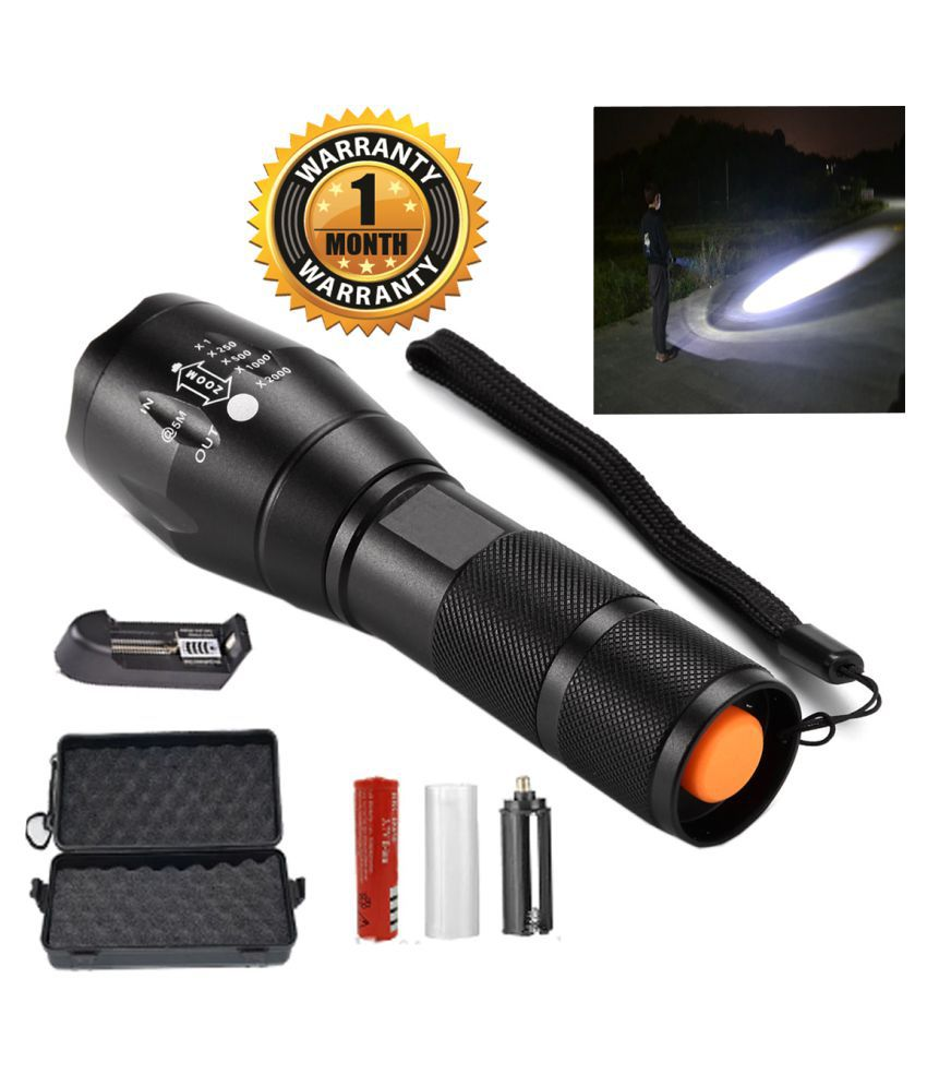 GA Zoomable  5 mode high power rechargeable torch-pack of 1 15W Flashlight Torch - Pack of 1