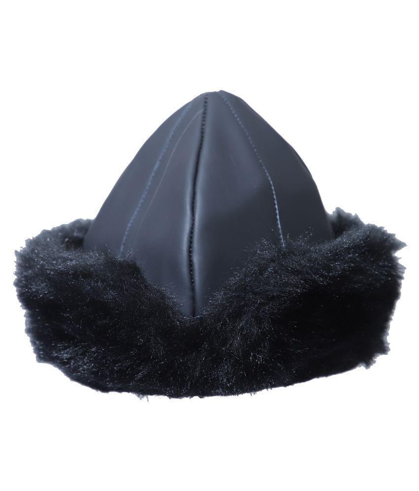 TandW Black Embroidered Fur