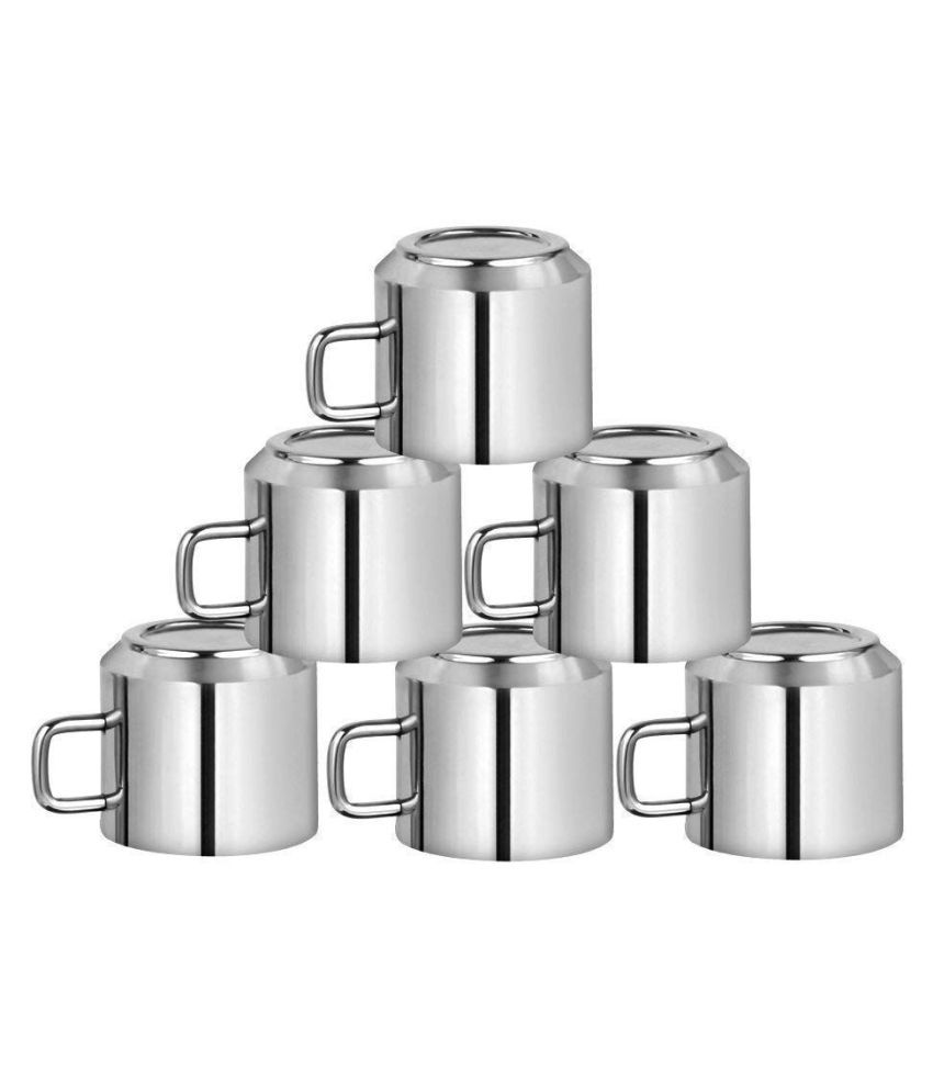 Arazrn Steel Tea Cup 6 Pcs 120 ml
