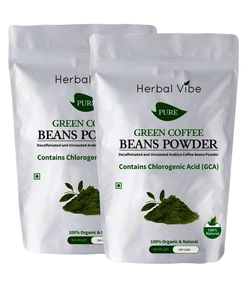 Herbal Vibe green coffee 400 gm Natural Pack of 2