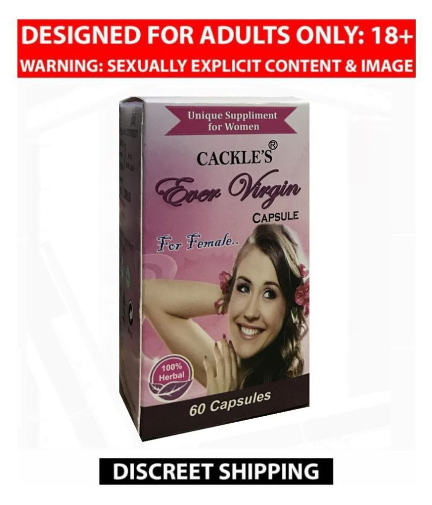 Cackle's Ever Virgin Capsule For Women, Pack of 60 no.s, 100% Natural