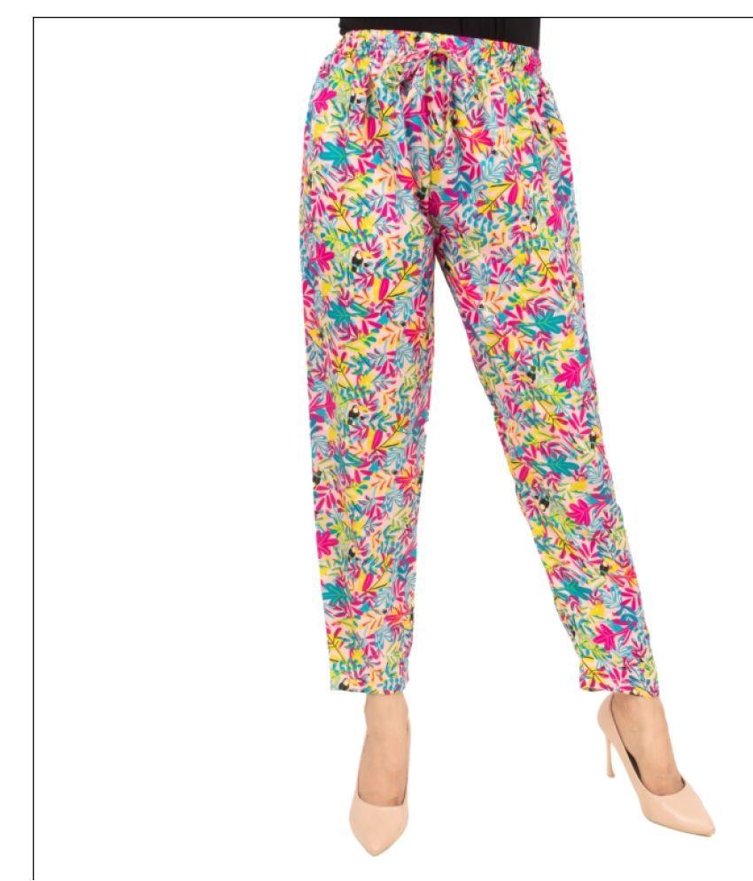 Desier Crepe Pajamas - Multi Color