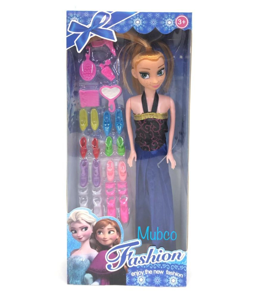 Mubco® Frozen Series Anna Doll With Different Color Shoes Set