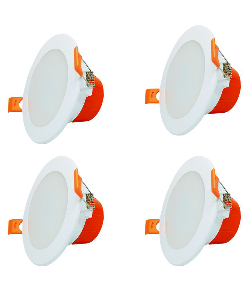 Raptors 7W Round Ceiling Light 10.5 cms. - Pack of 4
