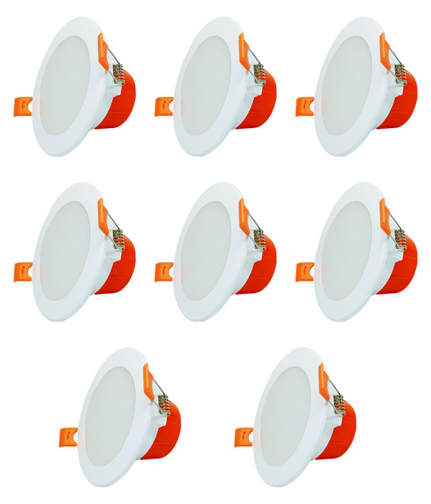 Raptors 7W Round Ceiling Light 10.5 cms. - Pack of 8