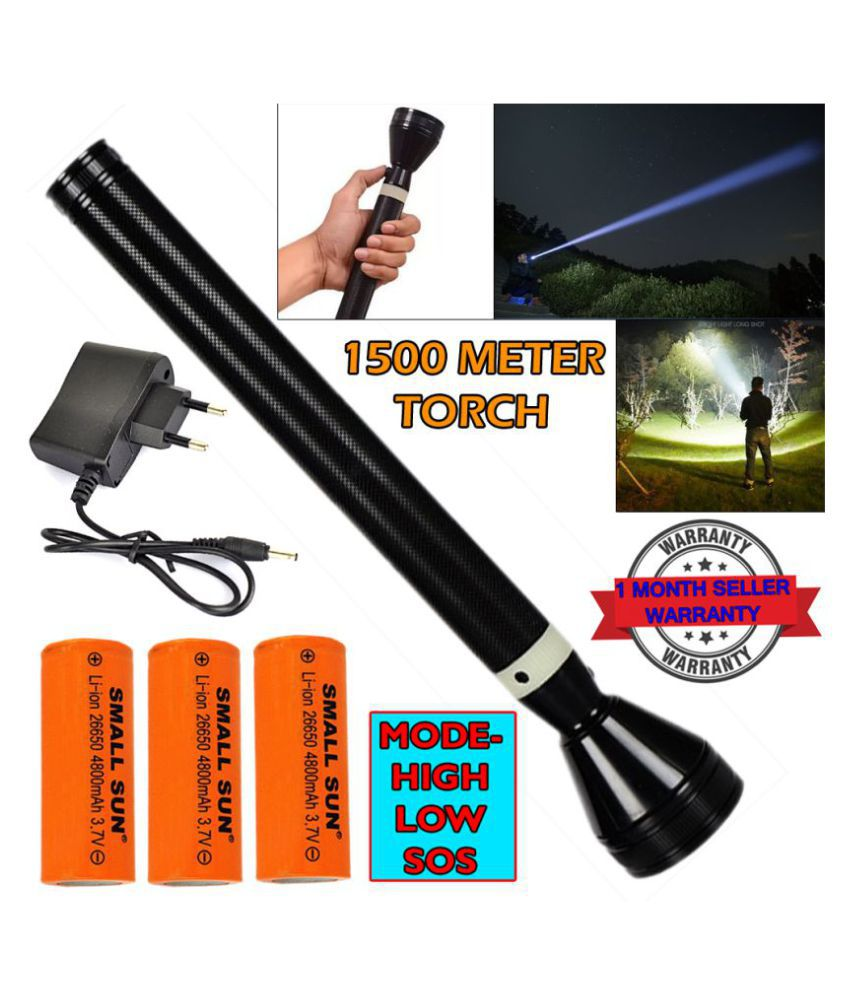 SS 15W Flashlight Torch 1500M 3 Mode Torch - Pack of 1