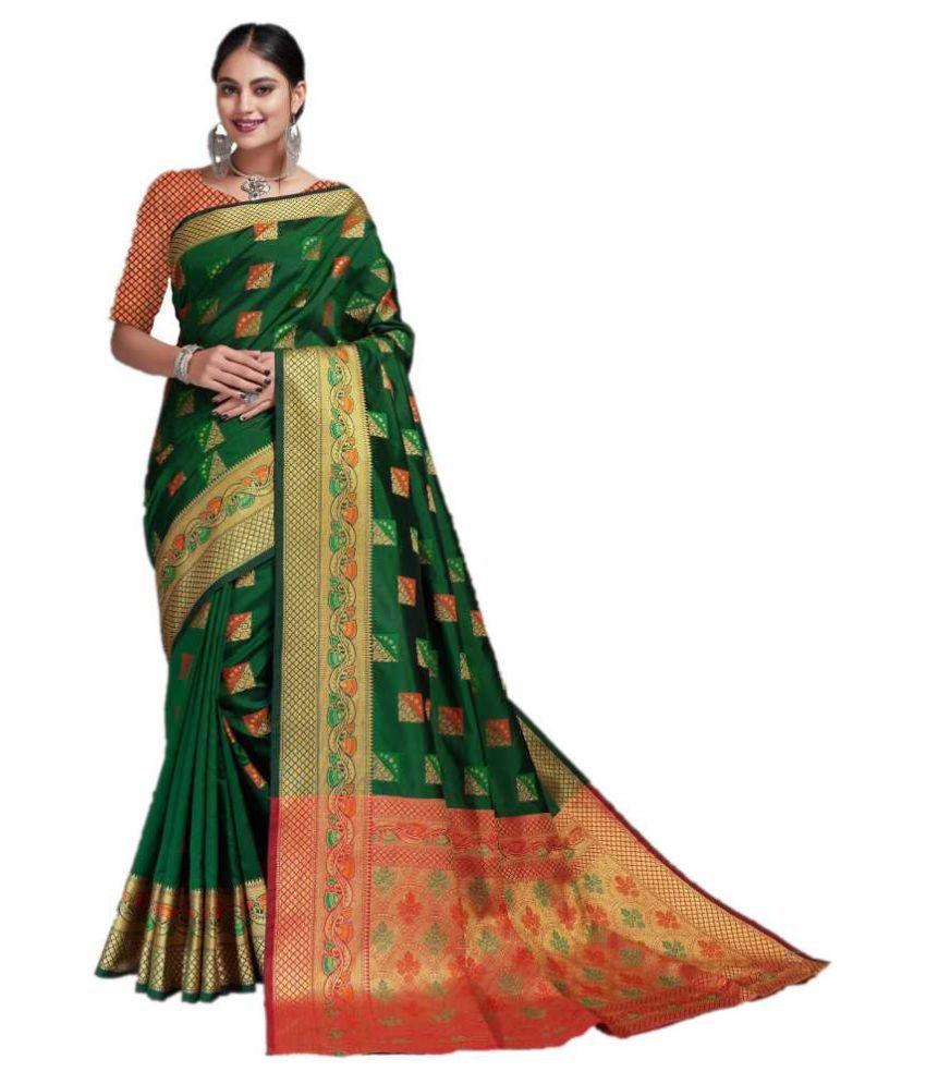 Darshita International Green Jacquard Saree