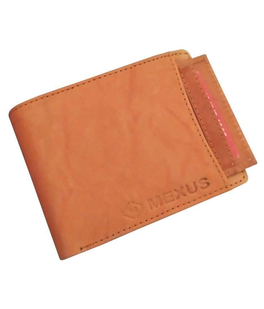 MEXUS Leather Tan Casual Regular Wallet