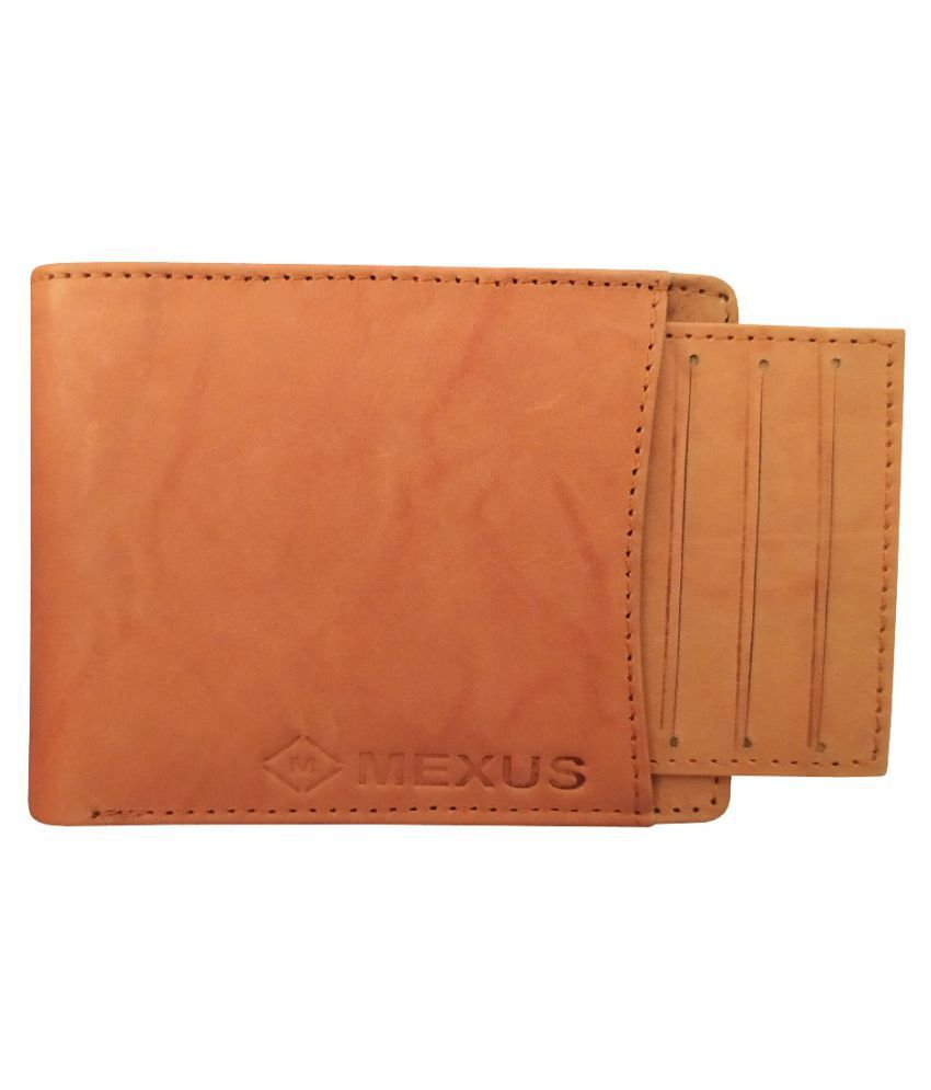 MEXUS Leather Tan Fashion Regular Wallet
