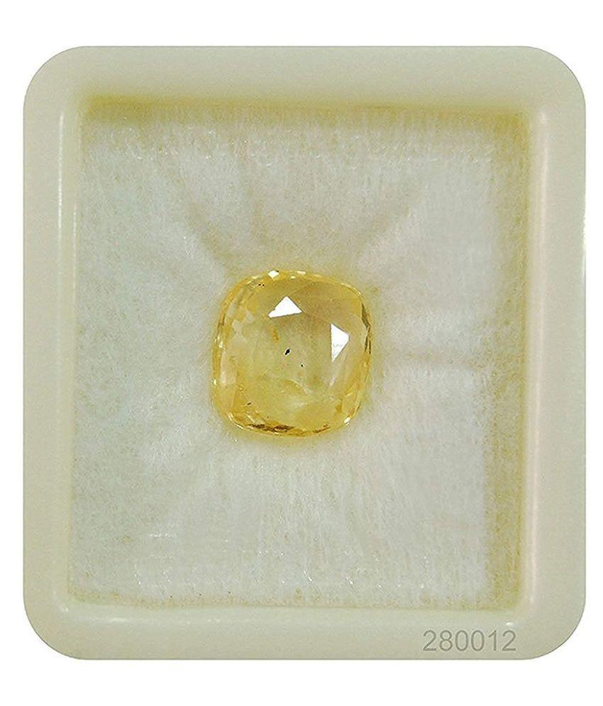 SARVNI  GEMS 9 - 9.5 -Ratti Self certified Yellow Sapphire (Pukhraj)