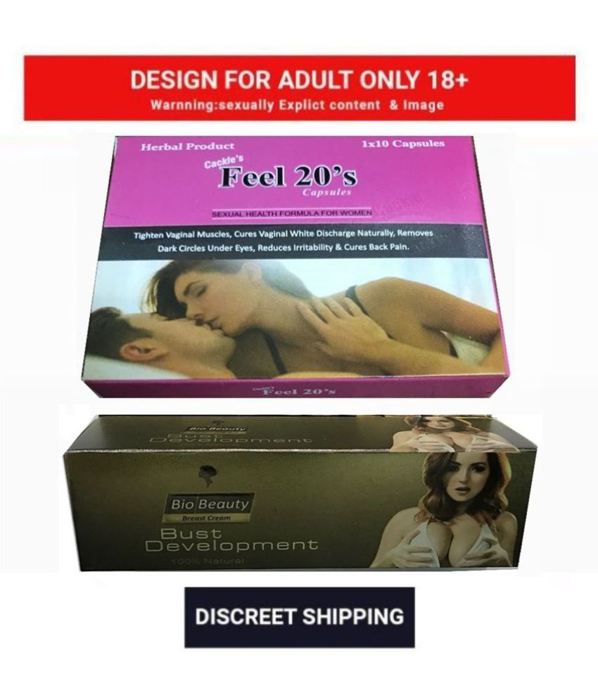 Cackle's Feel 20s Capsule for Women 10 x 3 = 30 no.s & Bust Development Cream 60gm Combo