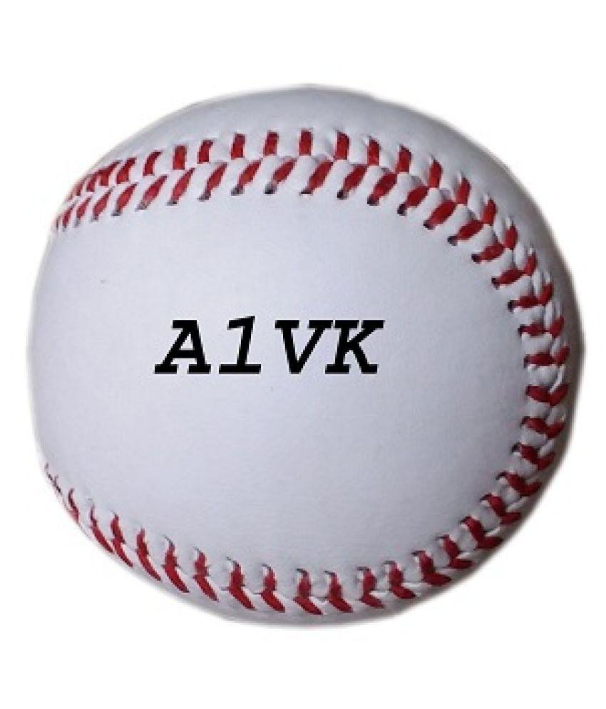 A1VK Baseball Cork Center Official Size 9 Inch Baseball  (White)