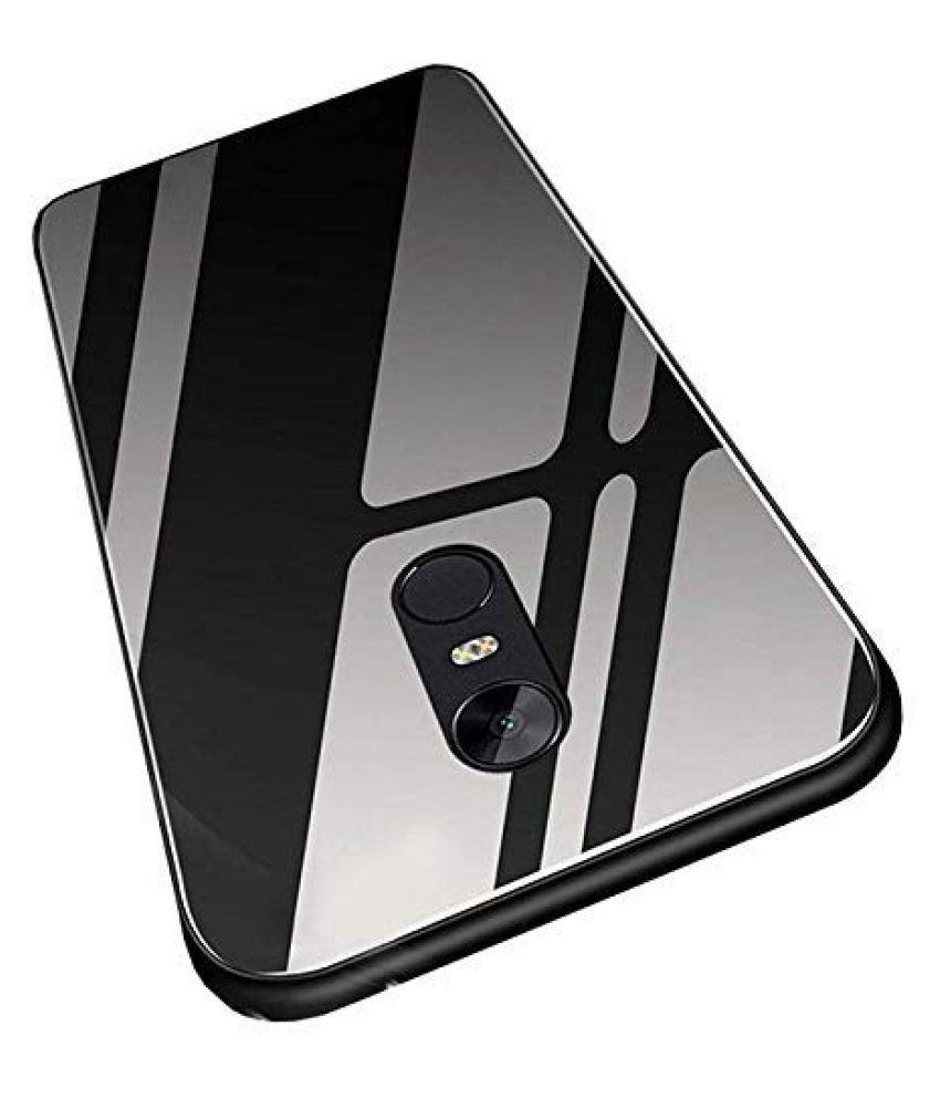 Xiaomi Redmi note 4 Glass Cover Gemesha   Black TPU Bumper Back Case