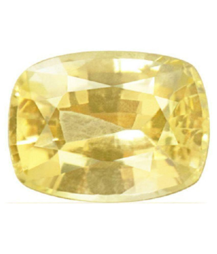 A1 Gems 11 - 11.5 -Ratti Self certified Yellow Sapphire (Pukhraj)