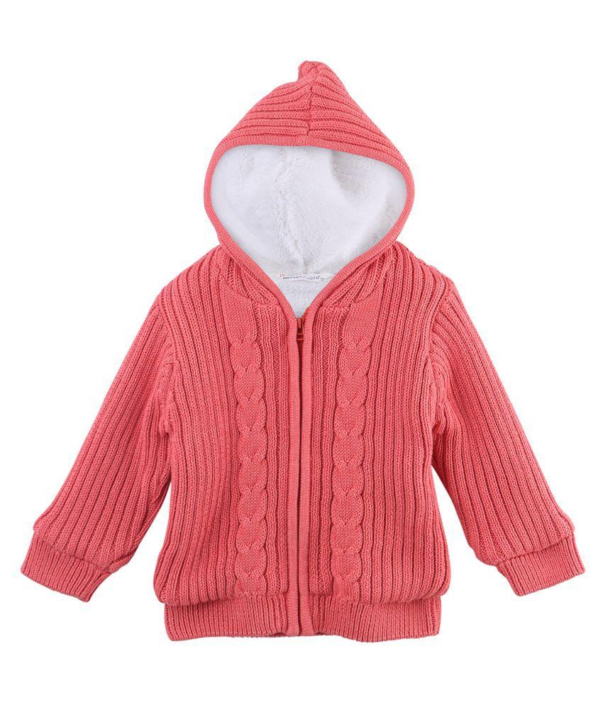 Cable  Sweater Orange 5-6Y