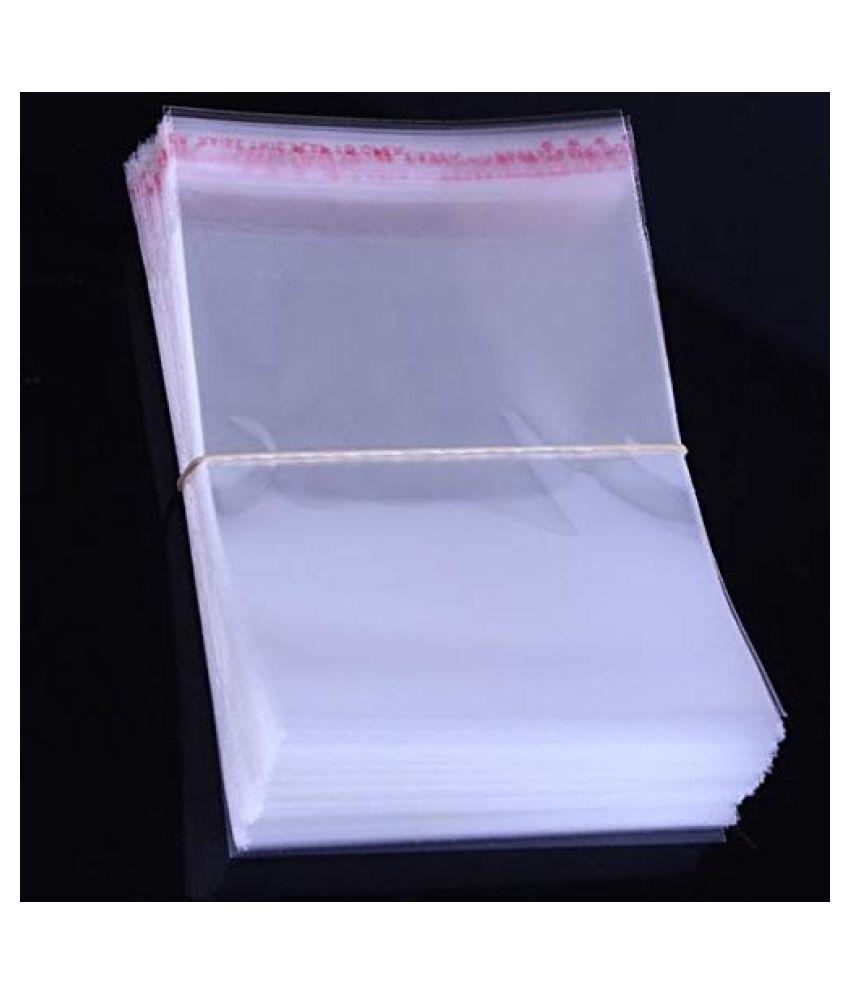 SJR Self Adhesive BOPP Multi-purpose Bag (Transparent, 16×23 Inch) Pack of 200 Pieces