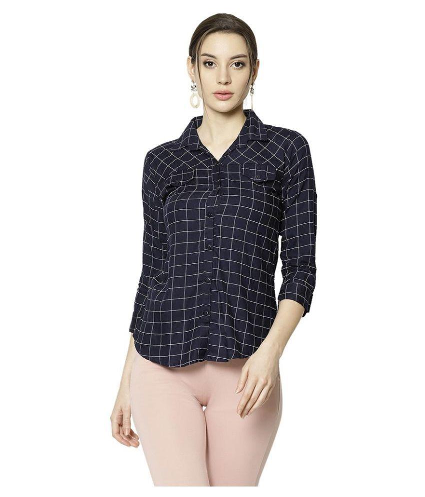 V2 Navy Rayon Shirt