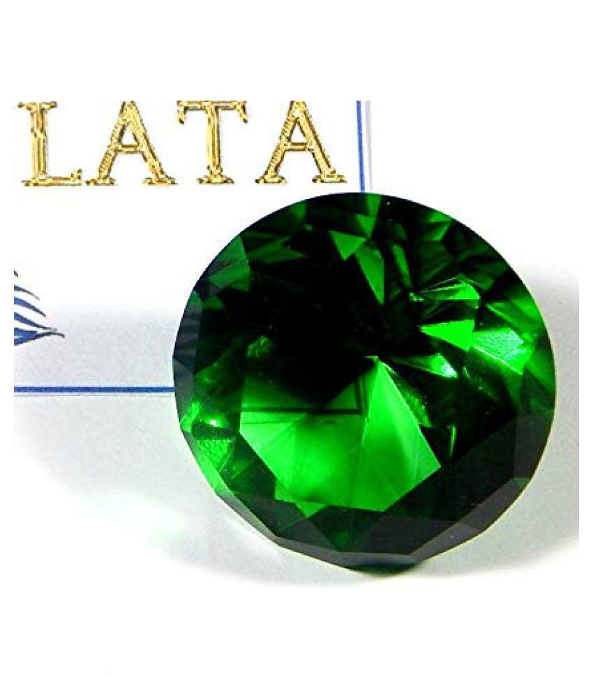 Zoltamulata® Dark Green Crystal Gemstone for Fengshui vastu Astrology & Aura or showpiece Table weiht for Office vastu with Weight 95.3 gm