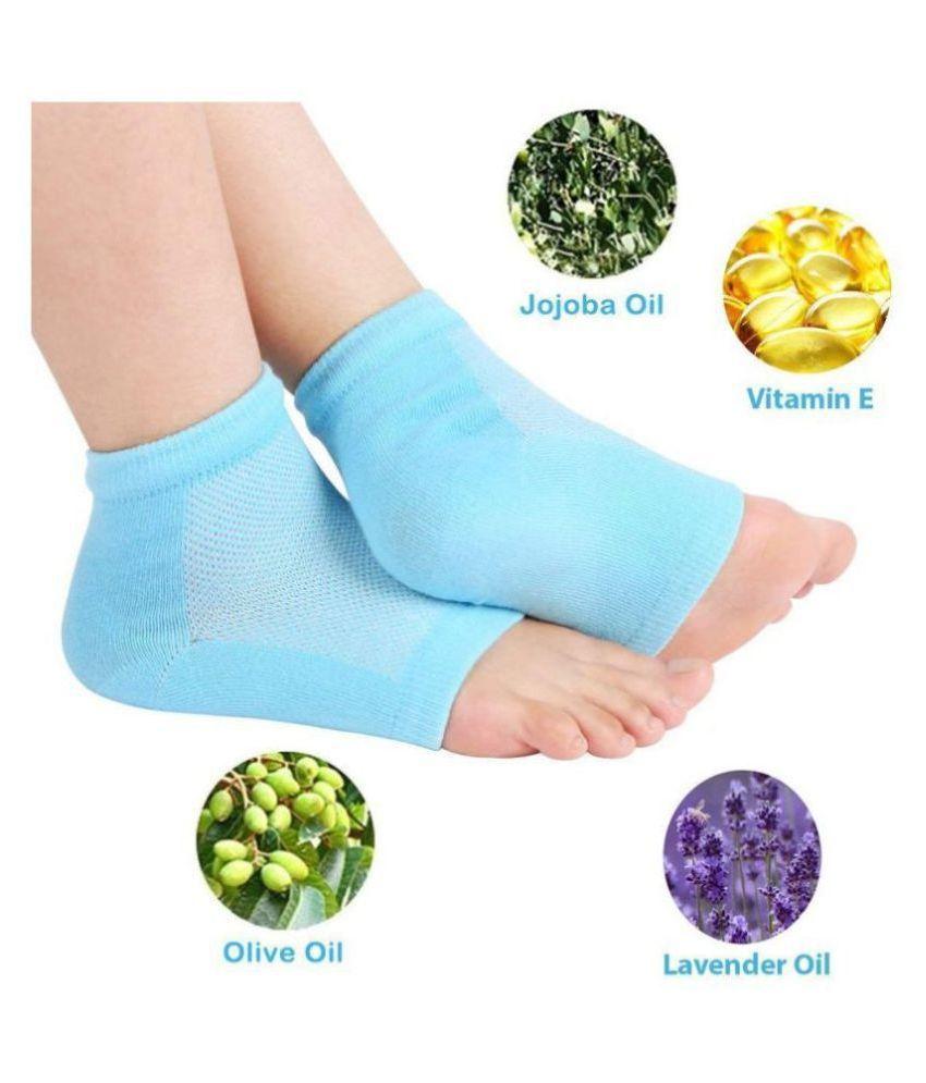 HI-LEE Trending Anti heel crack set  pain relief Heel Support Free Size