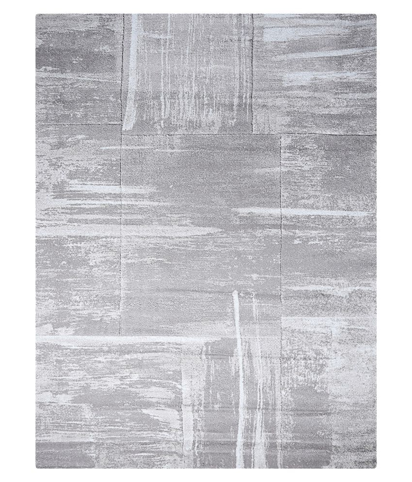 Obsessions Gray Polypropylene Carpet Abstract 3x6 Ft