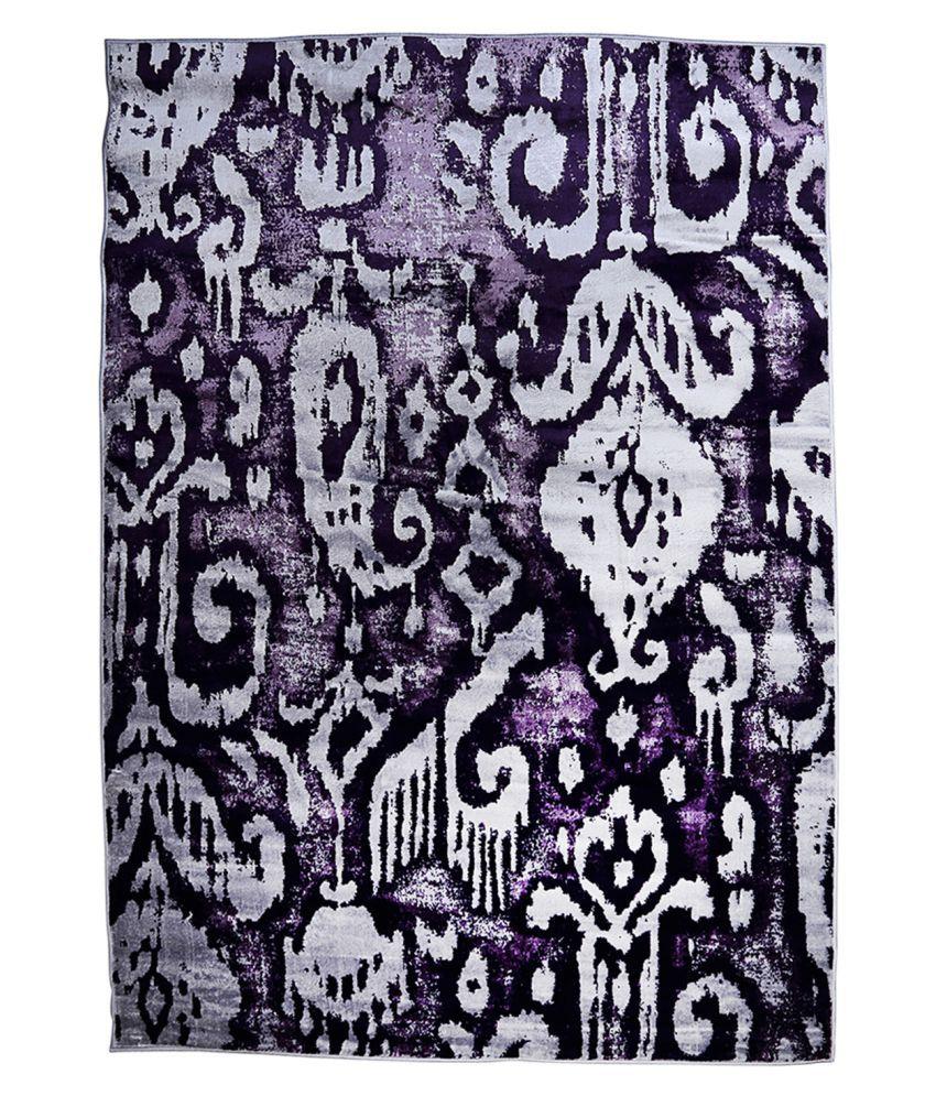 Obsessions Multi Polypropylene Carpet Paisley 5x8 Ft