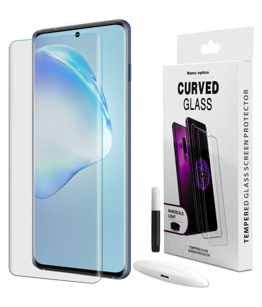 OnePlus 8 Pro Full Glue Tempered Glass Screen Guard By VE  -UV TEMPERED GLASS SCREEN PROTECTOR