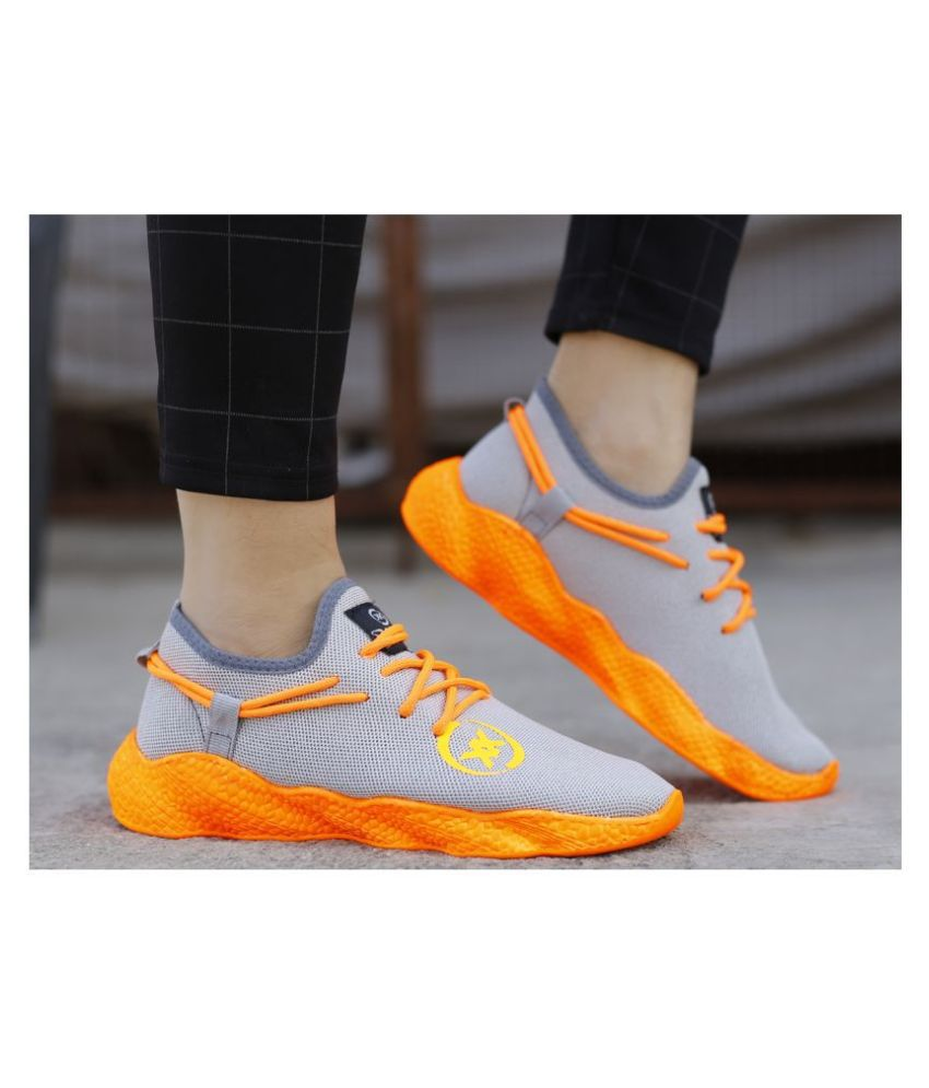 Global Rich Sneakers Orange Casual Shoes