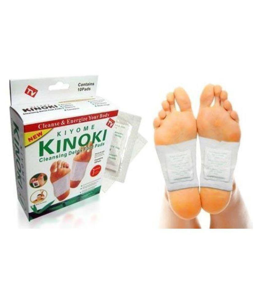 Kinoki Cleansing Detox Foot Pads 10Pcs - Toxins Dispelled Free Size