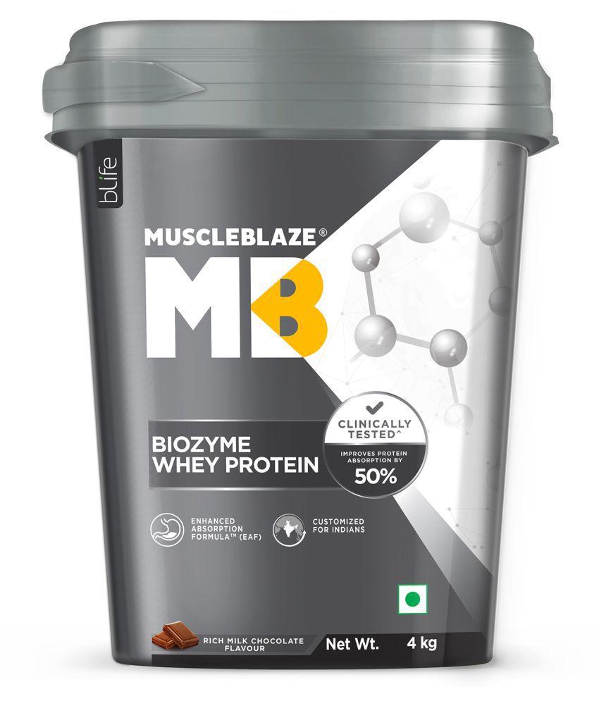 MuscleBlaze Biozyme Whey Protein, (Rich Milk Chocolate) 4 kg