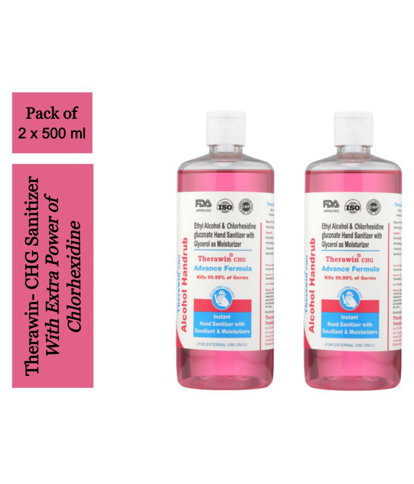 Therawin Hand Sanitizer 1000 mL Pack of 2