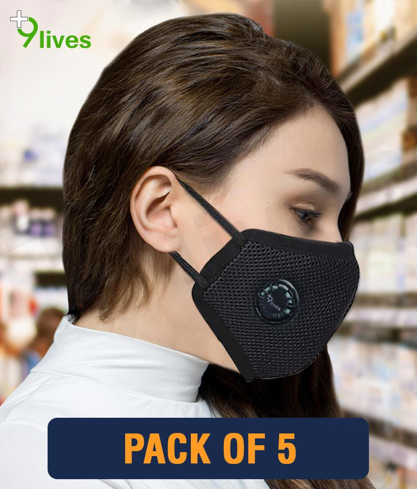 9lives 6 layer protection Reusable DN95 Anti-pollution Mask/Face cover - Pack of 5