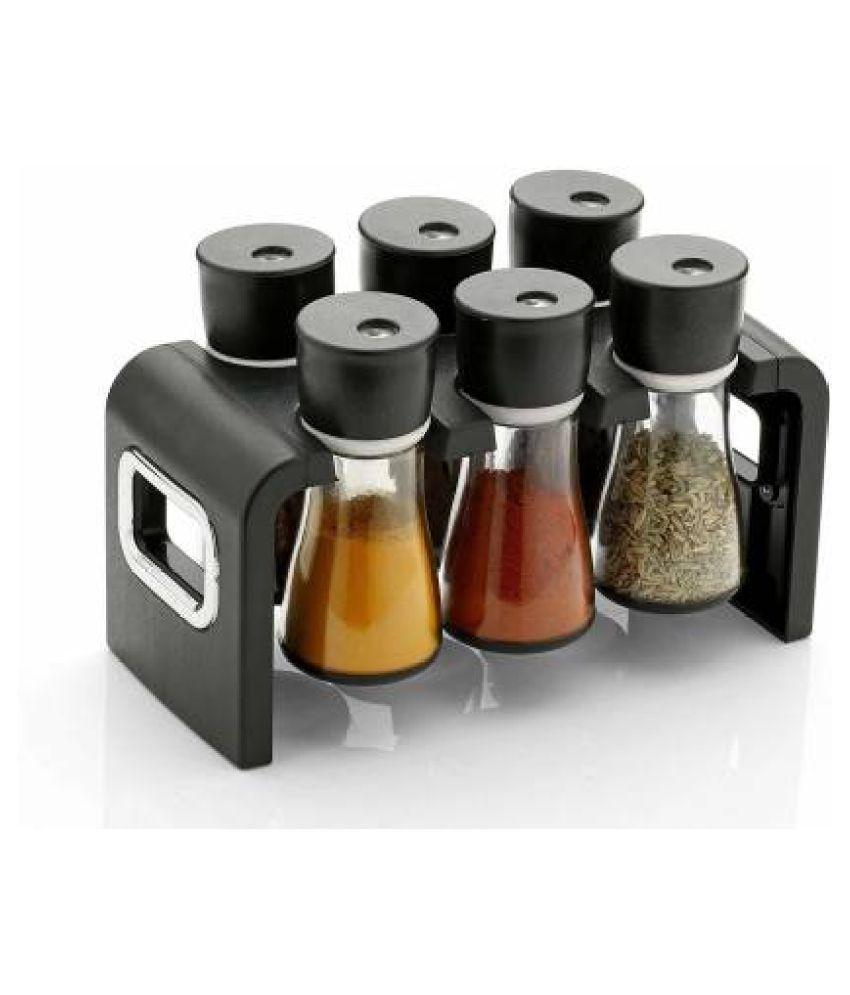 Multipurpose Revolving Plastic Spice Rack Masala Organiser   6 Pcs Set 1 Piece Condiment Set  Plastic